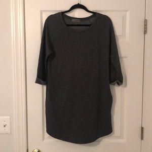 Dark grey t shirt dress